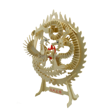 China Dragon and Phoenix 3D wooden model toy