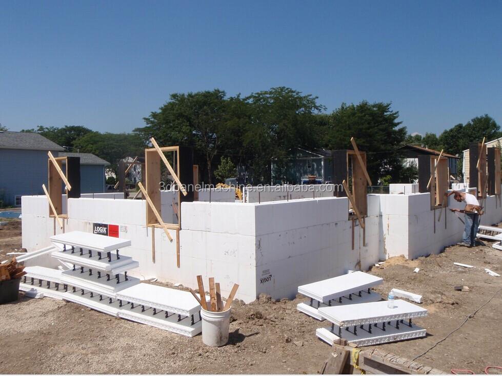Polystyrene concrete block equipment insulated concrete for Foam concrete forms cost