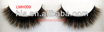 Wholesale price for real fox fur mixed with Siberian fur eyelash