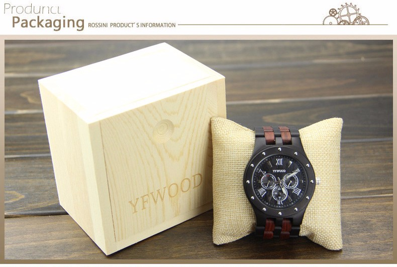 Promotion Christmas eco-friendly Wood Quartz Wrist Watch,Wooden Watch 2017 For Men With Japanese Movement 2035