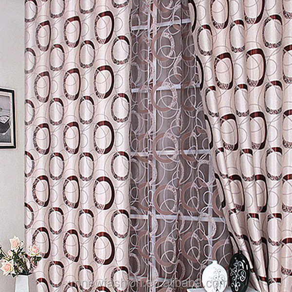 Dubai Fashion Circle Jacquard Factory Price Blackout Machine Washable Easy Care Curtain/Curtain Fabric /Window Treatment