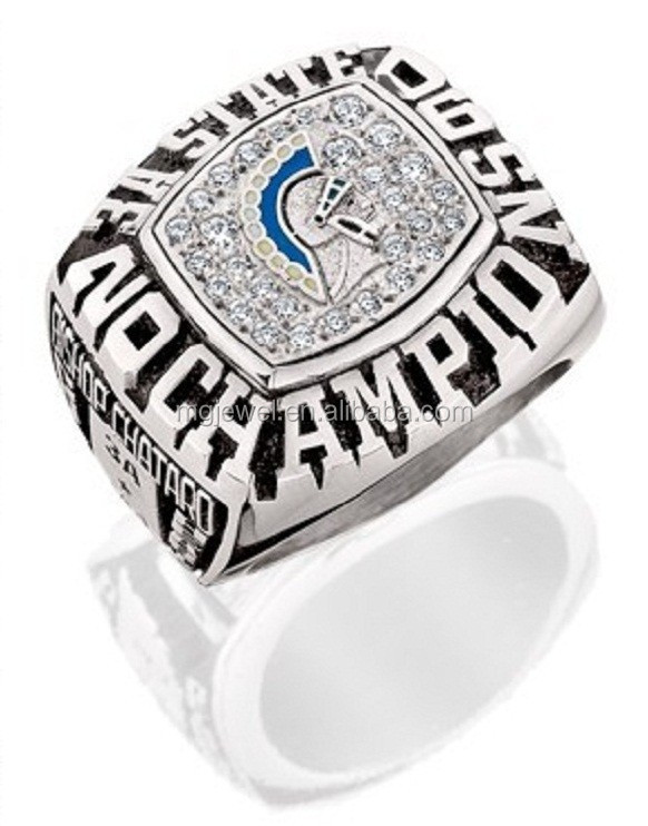Customized brass or silver Dallas Cowboys sports championship ring