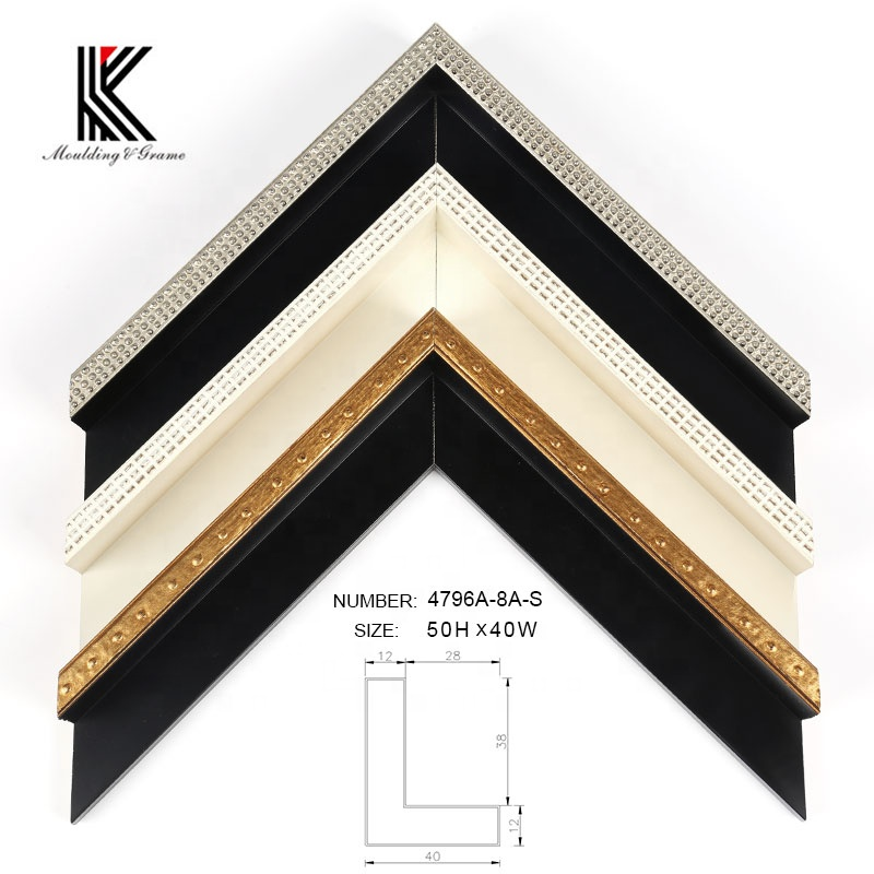High quality wood L type floater frame <strong>moulding</strong> for box frame