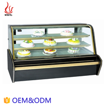 OEM Glass display Commercial display cake refrigerator showcase / fridge for pastry