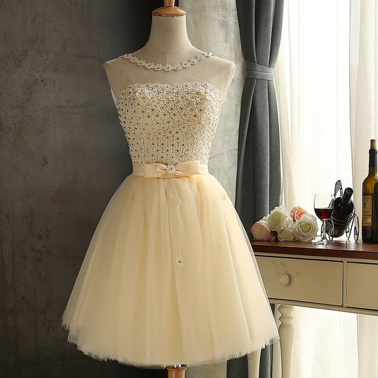 Js 24 Top Quality Cheap Party Champagne Wedding Prom Bridesmaid Dress On Hot Sell 005