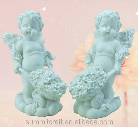 Unpainted polyresin painted baby angels souvenirs wholesale