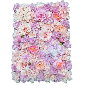 Beautiful 40*60cm Purple Pink White Wedding Backdrop Silk Flower Wall Wedding Decoration