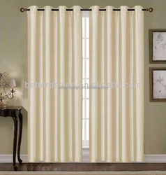 1PC SIMPLE FACTORY FAUX SILK WINDOW CURTAINS DESIGNS WITH GROMMETS FOR THE LIVING ROOM CURTAINS