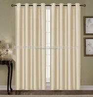 1PC Simple Faux Silk Type Of Office Window Curtains With Grommets