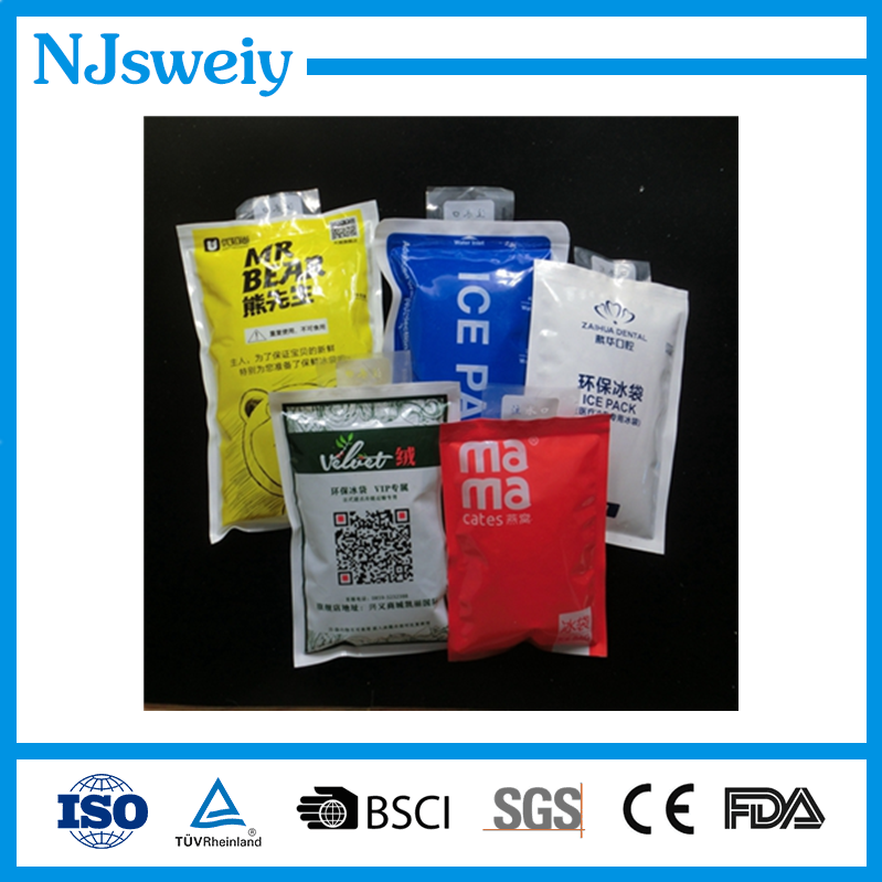 Professional safe disign top sale custom gel ice pack for shipping