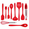 Silicone Spatula Utensil Set Heat-Resistant Non-Stick Cooking Baking Utensils with Hygienic Solid Coating Spatula Set 10 Pieces