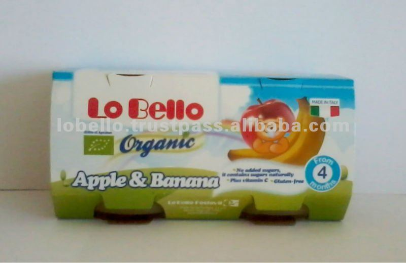 LO BELLO Organic Fruit Jars Apple & Banana