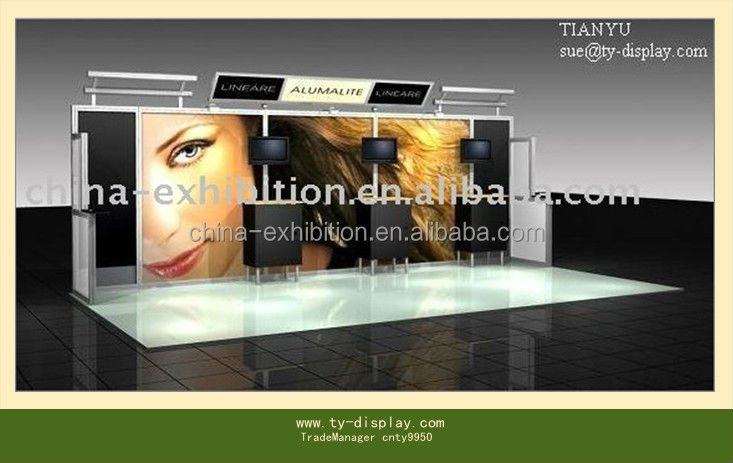 Large scale used modular aluminum truss trade show exhibition booth