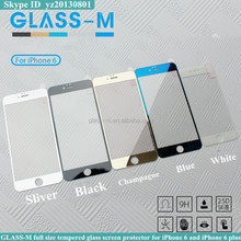 Bord color tempered glass screen protector for iPhone 6 and iPhone 6 plus with full size design