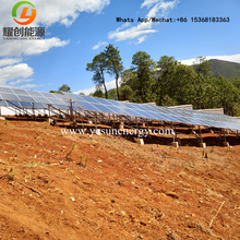 New installed solar water pump system 22kw solar surface pump with 60kw solar panels