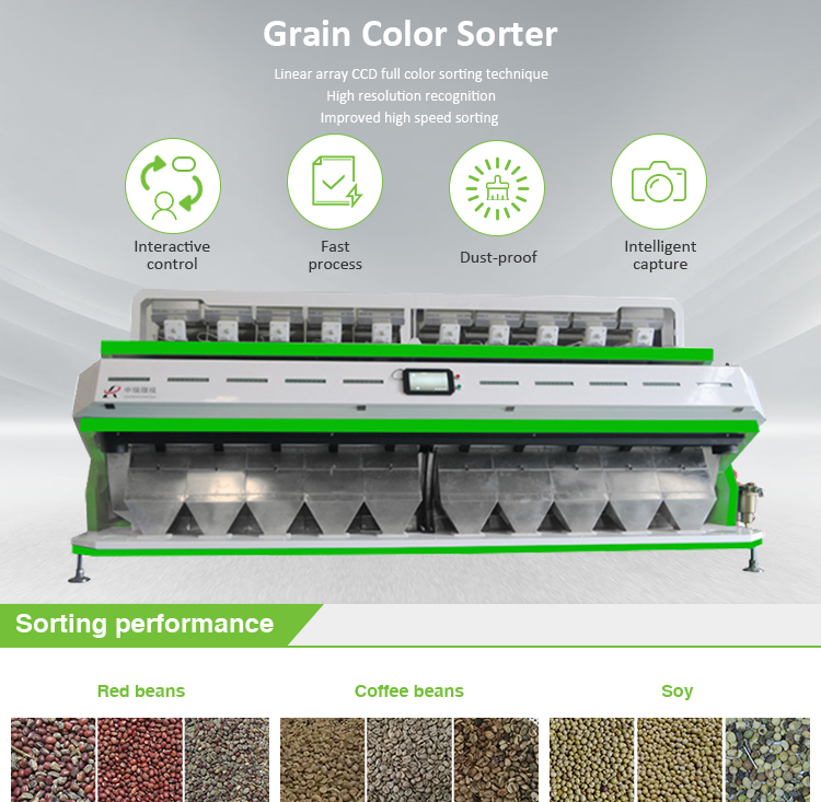 Hot new products arabica coffee beans color sorting machine with ISO9001:2008