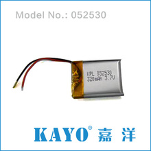China supplier 502530 320mAh 3.7v lithium rechargeable battery with 500 cycles