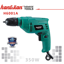 "H6001A 350W 1/4"" mini electric drill extra power tools with positive and negative switch"