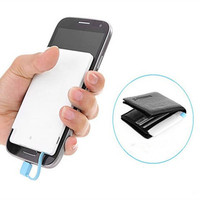 Power Bank 2500mAh Ultra Thin Wallet Sized Portable USB External Battery Charger with Built in Cable for USB Charged Devices
