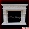 Hand Carved Beautiful Marble Freestanding Fireplace