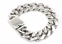 High quality 316 stainless steel mens heavy bracelets wholesale jewelry fashion thick bracelets