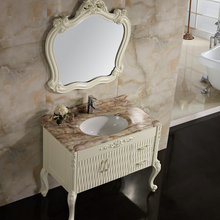 Classic Hand Carving Bathroom Vanity Unit With Basin
