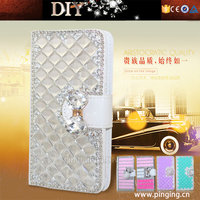 Luxury Bling Bling Diamond Wallet Flip Leather Case For ZTE Blade A462
