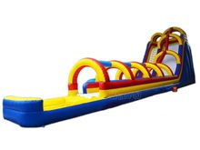 giant water slide long inflatable slip n slide with water pool for commercial use