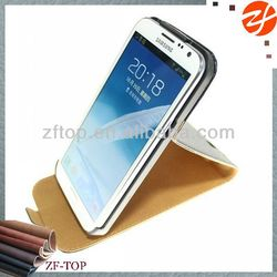 Flip stand leather phone case for Samsung galaxy note 2