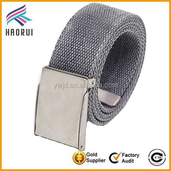 Yiwu Factory Wholesale Polyester Fabric Belt Man Canvas Belt in Stock