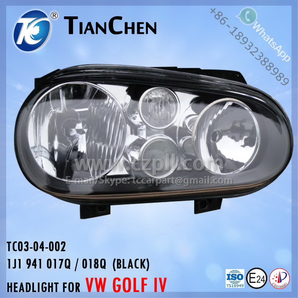 HEADLIGHT for GOLF 4 G4 1998 - 2002 BLACK 1J1 941 017 Q / 018 Q