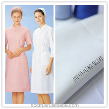 CVC dyed 50 cotton 50 polyester fabric for nurse uniform