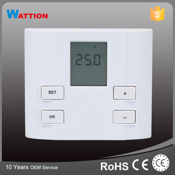White Color Heating Control Simple Thermostat Control Switch