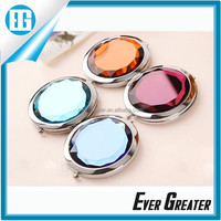 The small metal hand held mirrors wholesale small metal pocket mirror