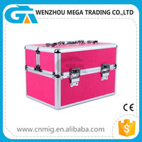 New Design Beauty Cosmetic Case Single-open Aluminum Vanity Box