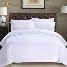 White 4pcs Bedding sheet plain linen Set for Hotel Bed Duvet Covers