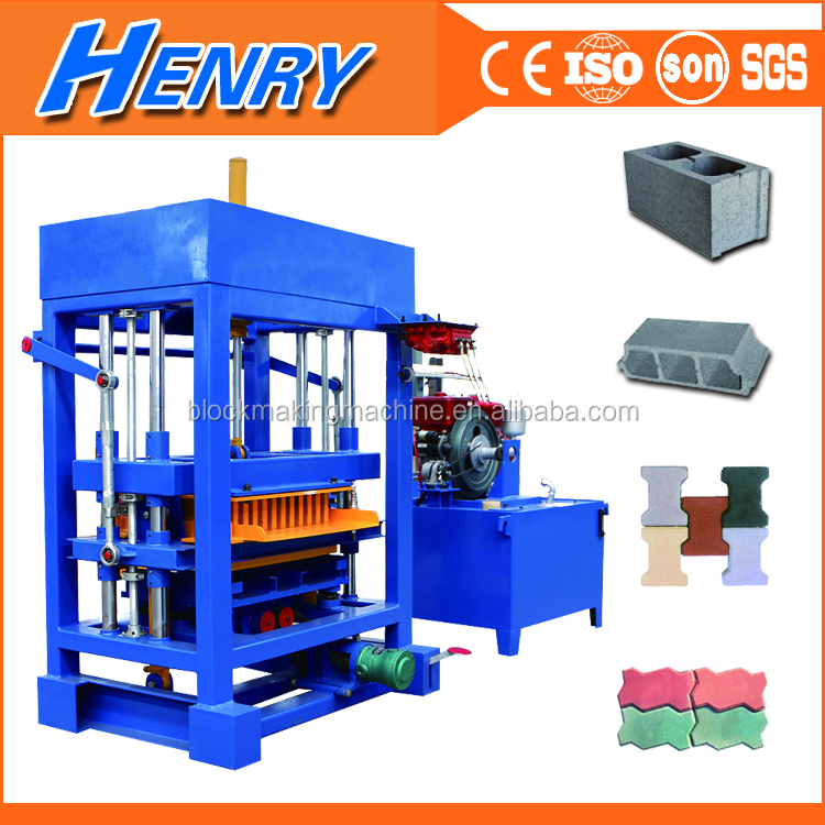 Low Cost QT4-30 diese engine habiterra concrete hollow block machine for sale, interlocking paver block machine price in india