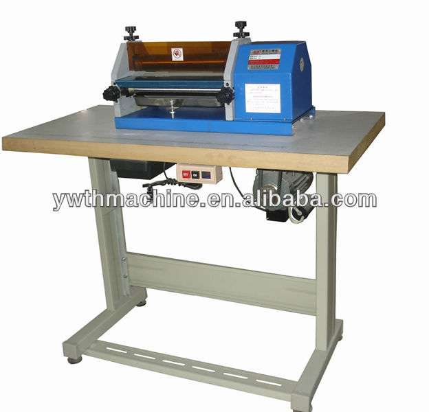 Automatic Leather Cardboard White Latex Smearing Machine