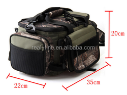 Multifunctional Waterproof Outdoor Waist Shoulder Canvas Fishing Bag Fly Carp Lure Box Bag Tackle Large Capacity 35 * 22 * 20cm