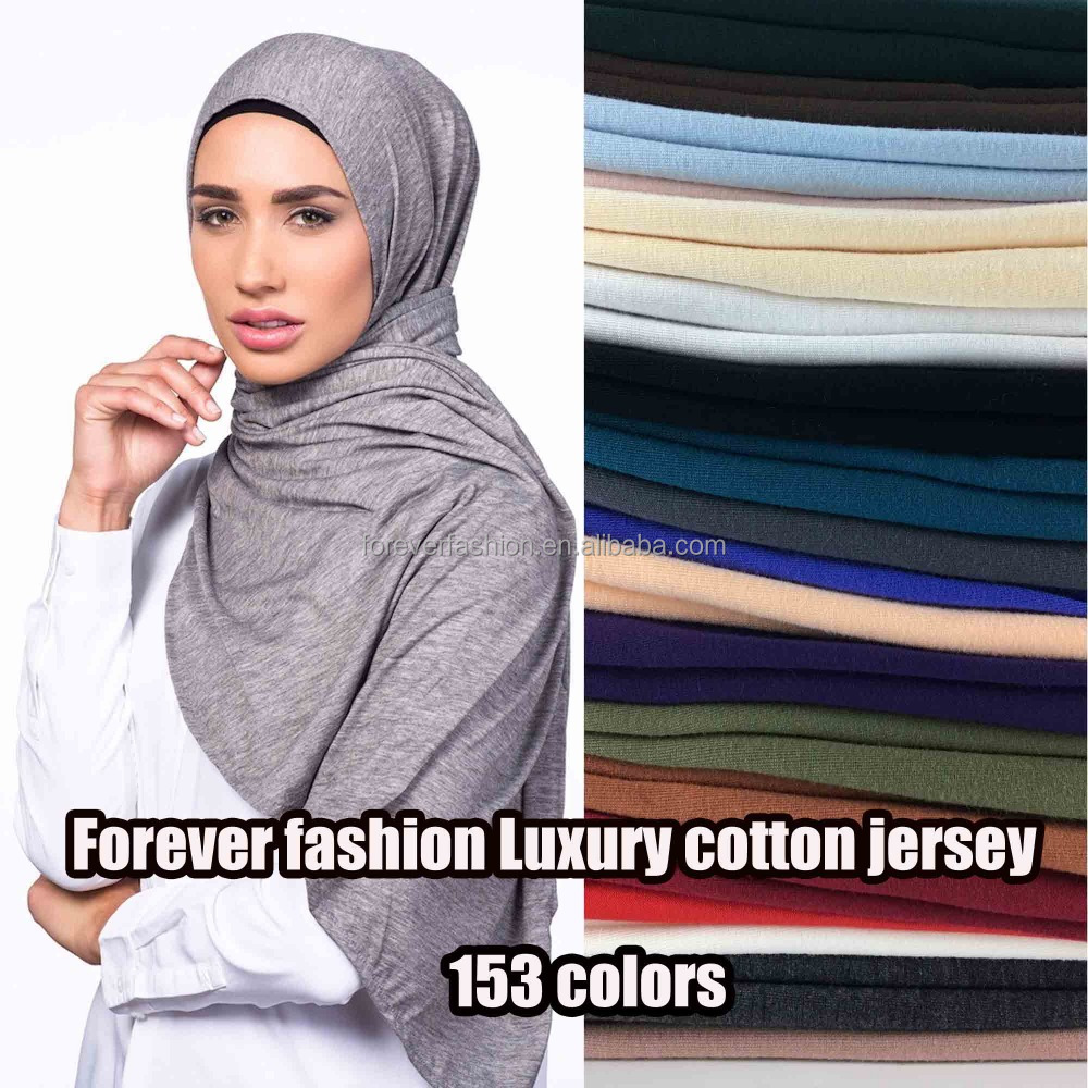 Wholesale long oversizedplain solid color scarf factory muslim maxi luxury cotton jersey hijab