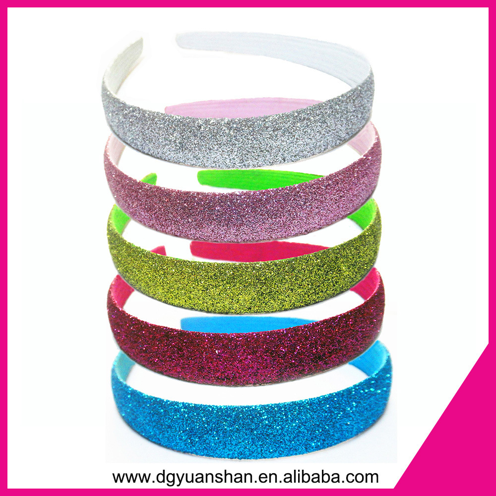 manufacturer wholesale glitter headband,plastic headband
