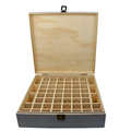 FSC&BSCI handmade decorative pine gray color wooden essential oil boxes