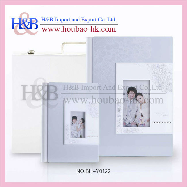 Top sales elegant white wooden photo album box
