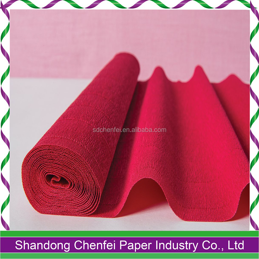 Poppy Red 80gsm-140gsm Crepe Paper for DIY Flowers