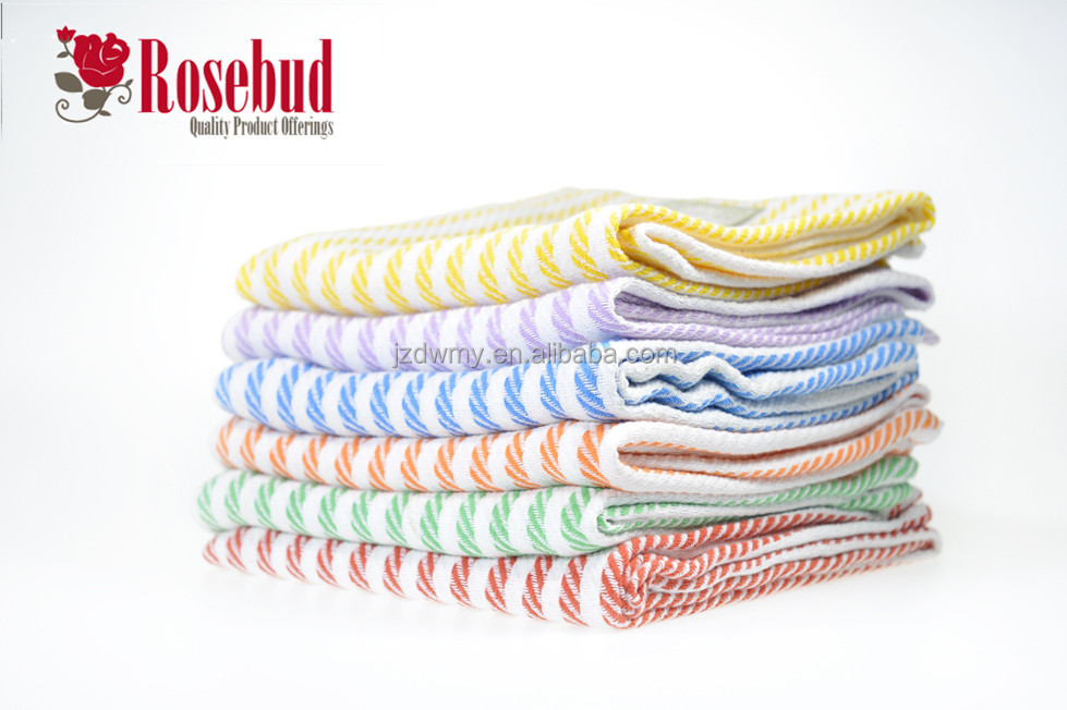 100% cotton colorful stripe tea towel kitchen towel dish towels wholesale
