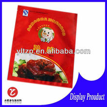 colorful printed plastic food packaging bag for meat or chicken