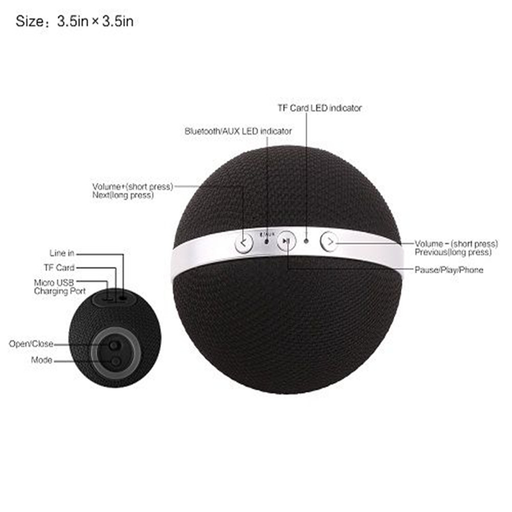 customised gifts Anonsuo DS 1560 portable golf ball shape bluetooth speaker