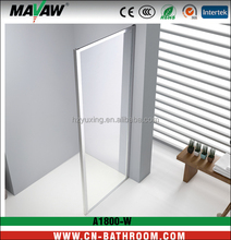 2016 new design tempered glass shower screen 1800W
