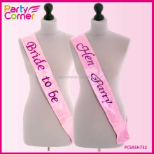 Pink Foil Sash Flash With Hot Pink Text