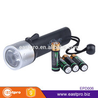 Timely service 3 Modes waterproof super bright XPE LED AA battery powered buy underwater led diving flashlight